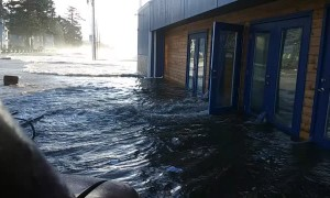 Huge Tide Destroys Beachside Bar