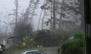 Tornado Hits Outside Family's Home