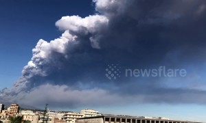 Now Mount Etna has erupted on Christmas Eve