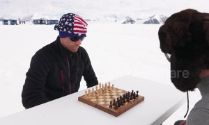 Chess players keep their cool during match in Antarctica