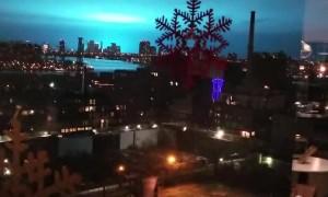 Strange Blue Light Illuminates the NYC Night