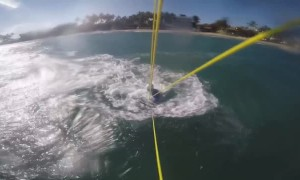 Kiteboarding Crash in Cabarete with Shark