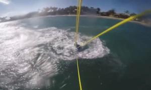 Kiteboarding Crash in Cabarete with Shark