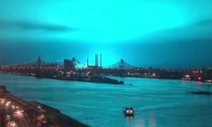 New York Transformer Explosion Turns Night Sky Blue