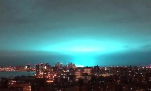 NYC Explosion Turns Sky Blue Hue