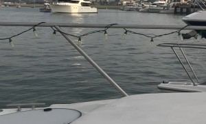 Law Enforcement Confronts Stolen Boat