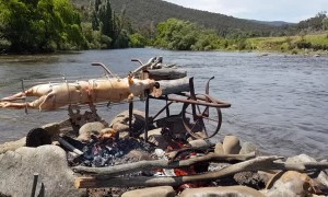 River Powered Spit Roast