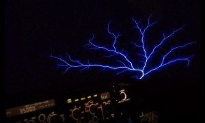 Pilot captures rare St. Elmo's fire weather phenomenon mid-flight