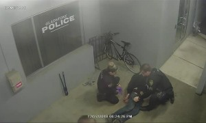 Man tries to steal bike from police station