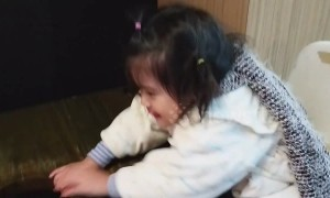 Taiwanese toddler gets upset when she is denied ice cream