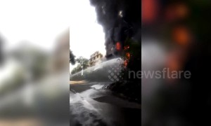 Major fire breaks out at chemical factory in west-central Indian state