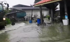 Tropical Storm Pabuk makes landfall in southern Thailand
