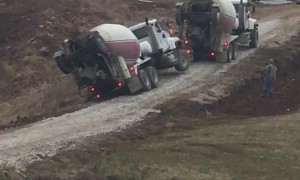Cement Truck Tips and Falls