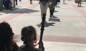 Girl Has Star Wars Dreams Come True at Disney World