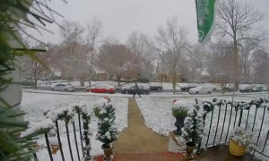 Time-Lapse of Record Breaking Snowfall in Virginia