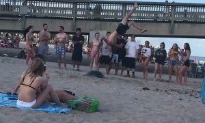 Backflip Fail on the Beach