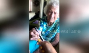 Hit it! Watch this adorable grandmother's reaction to a Juul