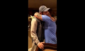 Tear-jerking moment US man surprises stepfather with adoption papers
