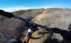 Speedy Cyclist Hauls Through California Hills