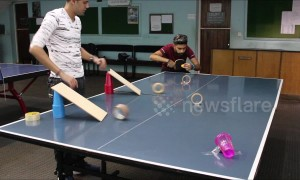 Sensational ping pong trick shot will leave you in awe