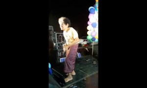 80-year-old grandmother's performance is major hit at Thai party