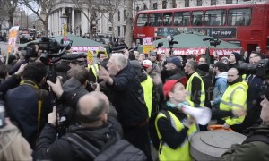 "Clashes at ""Broken Britain"" anti-austerity march in London"