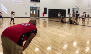 Dad surprises daughter at practice after being overseas for 16 months