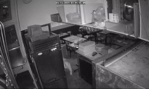 Security Camera Catches Suspicious Sneaking