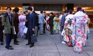 Japan's young adults celebrate Coming of Age Day with song and dance