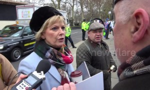 MP Anna Soubry welcomes 'Brexiteers' at Parliament on vote day