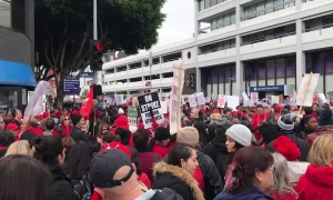 Massive turnout for day 2 of Los Angeles teachers' strike