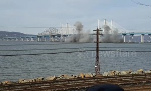 Explosion blasts Tappan Zee Bridge into Hudson River