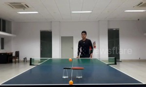 Table tennis whiz reveals his 100 best trick shots