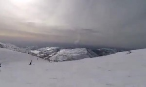 Skier's camera captures Israel's Iron Dome intercepting missile