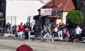 Street fight breaks out during MLK rally in Los Angeles
