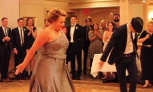 Mother and son's wedding dance leaves guests in awe