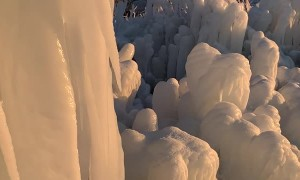 Incredible Ice Formations in Michigan