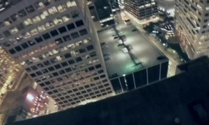 BASE Jump Ends With a Surprised Spectator