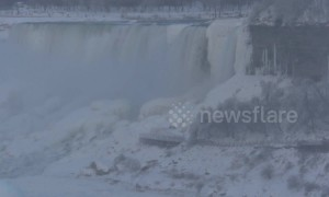 Cold snap turns Niagara Falls into an icy wonderland in Canada