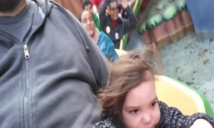 Little Girl has First Roller Coaster Experience – CUTE