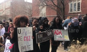 University of Oklahoma students hold anti-racism rally after man spotted in blackface on campus