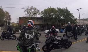 Rider Wrecks During Stunt Ride