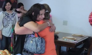 Sisters reunited after being apart for 25 years