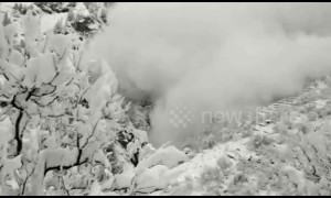 Massive avalanche narrowly misses village in Indian Himalayas