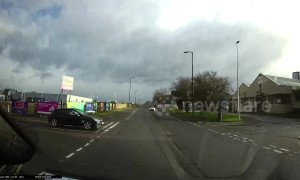 Dash cam captures hair-raising near miss on UK road