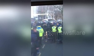 Millwall, Everton fans clash in 'shocking' football violence