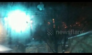 Chicago electrical wires explode in impressive showers of sparks during cold spell