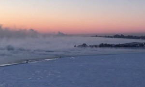 Polar vortex turns Lake Michigan into Siberia