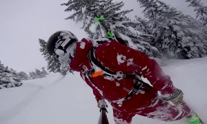 Incredible Downhill Skiing POV