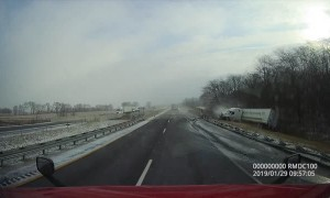 Tractor Trailer Goes Off-Road